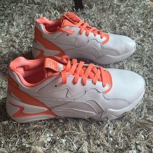 New Puma Nova X Pantone living coral sneakers